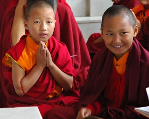 two initiate monks tibet