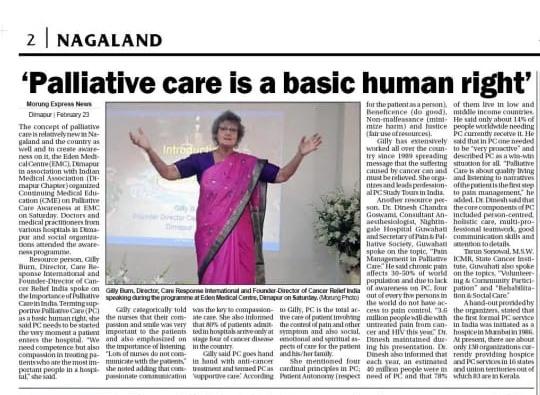 Palliative Care on the Move in Northern Province, Sri Lanka